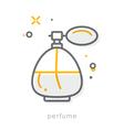 Thin line icons Perfume vector image
