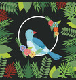 spring birds flowers decoration nature branch vector image
