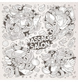 set of massage and spa doodle designs vector image