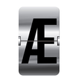 Alphabet silver flipboard letters ae vector image vector image