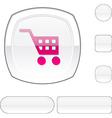 Buy white button vector image
