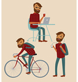 hipster lifestyle vector image vector image