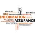 word cloud information assurance vector image vector image
