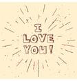 handdrawn background for Saint Valentines vector image