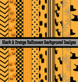 Black Orange Halloween Background Designs vector image