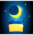 abstract background with moon vector image