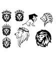 Black and white heraldic lions vector image