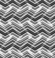 Black and white zig zag seamless pattern vector image