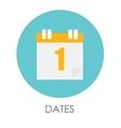 Dates Flat Icon vector image