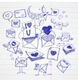 Doodle style mail message or envelope vector image