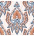 Ethnic floral pattern vector image