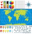 Infographics Global Business Finance vector image