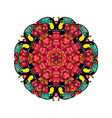 round ornament style psychedelic 60s of tropical vector image