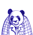 sketch of panda bear vector image