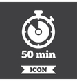 Timer sign icon 50 minutes stopwatch symbol vector image