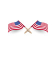 united states of america windy waving flag crossed vector image