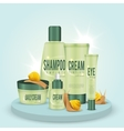 Snails And Cosmetics Composition vector image