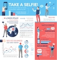 Take a Selfie - poster brochure cover template vector image
