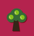 flat icon design collection ecological tree in vector image vector image