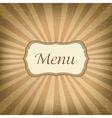 Retro Label With Menu vector image