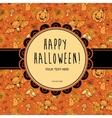 Stylish Halloween card in vector image