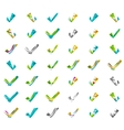 Set of abstract OK and tick icons business vector image vector image