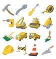 Construction cartoon icons vector image