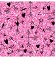 Valentines Day Heart Pink Glitter Pattern vector image vector image
