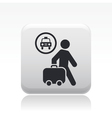 taxi travel icon vector image vector image