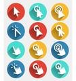 Hand cursor signs arrow pointer symbols and click vector image vector image