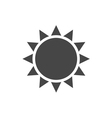Black design element Light sign sun isolated vector image