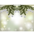 Christmas New Year s card Shiny silver balls on vector image