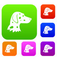 dalmatians dog set collection vector image