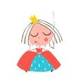 Depressed Little Princess Smoking Cigarette vector image