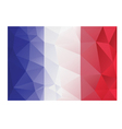 flag france low poly vector image