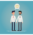 LGBT marriage vector image