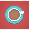 top view of the coffee cup vector image