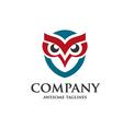 creative owl design vector image