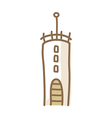 icon tower vector image