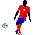 football player on the field colored for designers vector image vector image