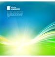Sun shine rays with bokeh over abstract sky vector image