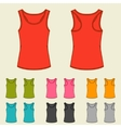 Set of templates colored singlets for women vector image vector image