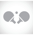 Table tennis black icon vector image