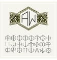 Stylish monogram  Elegant line art logo design vector image