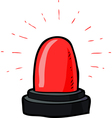 red flashing emergency light vector image vector image