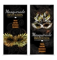 Masquerade Carnival Banners vector image