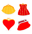 Set of stylish purse vector image