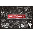 Astronomy on chalkboard vector image