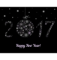 Happy New Year 2017 decoration vector image