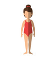 isolated cute standing women vector image